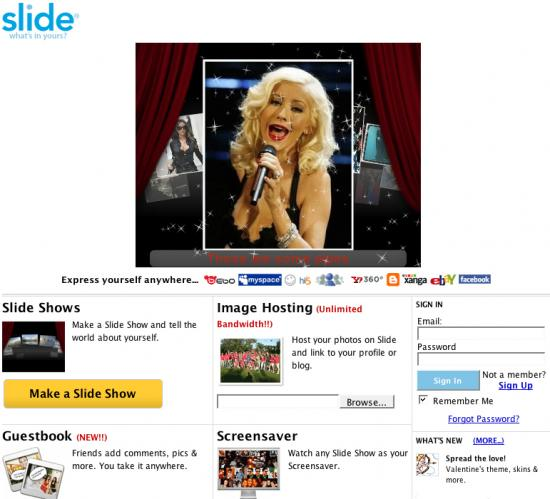 Website of the Day: slide.com