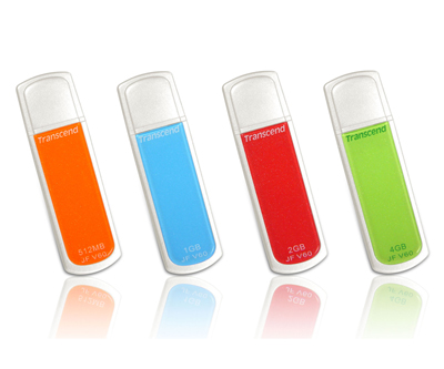 Brightly Colored USB Flash Drives By Transcend