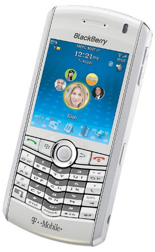 Blackberry Pearl Now Comes in White