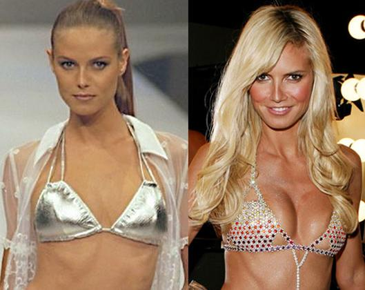 Heidi Klum.. WOw.. not always so busty...