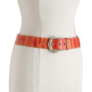 Tangerine: Bluefly Prada orange snakeskin belt