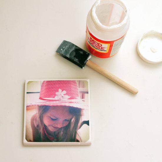 DIY Tile Photo Coasters | POPSUGAR Smart Living
